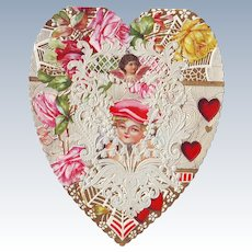 Lacy Heart Shaped Valentine circa 1910