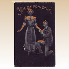 1907 Valentine Postcard - Yours Forever Embossed Postcard
