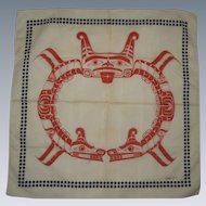1979 Barry Herem Serigraph Scarf - Northwest Native American Design