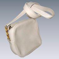 Paloma Picasso Signature Handbag with Cross-Body Strap - Off White