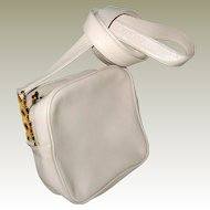 Paloma Picasso Signature Handbag with Cross-Body Strap - Off White