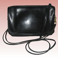 Black 1970's Coach Convertible Handbag Clutch - Made in NYC
