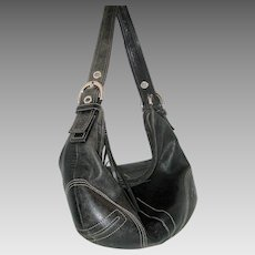 Classic Black Coach Hobo Satchel F05S-8A03 with Protective Bag