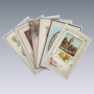 Six Vintage Birthday Postcards with Water Scenes - 1911 - 1924