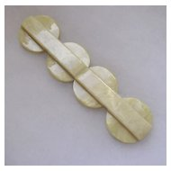 Art Deco French Galalith Belt Clasp