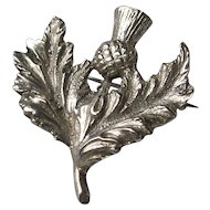 Robert Allison Sterling Silver Scottish Thistle Brooch c1957