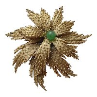 Vintage 1950's Art Glass Bead Flower Brooch