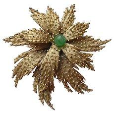 Vintage 1950's Art Glass Bead Flower Brooch