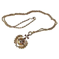 Vintage Gold Plated Butler & Wilson Orb Pendant