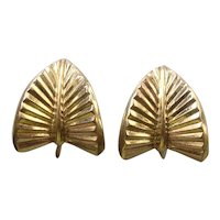 Vintage German Rodi & Wienenberger Pforzheim Gold Filled Floralia Earrings