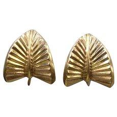 German Rodi Wienenberger Pforzheim Gold Filled Floralia Earrings