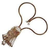 Vintage Filigree Pendant Necklace