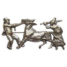 Victorian Donkey Figural Brooch