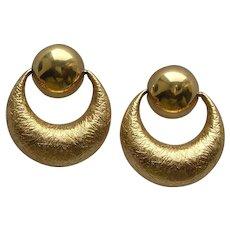 Monet Textured Hoop Earrings