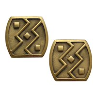 Vintage Modernist Style Monet Earrings