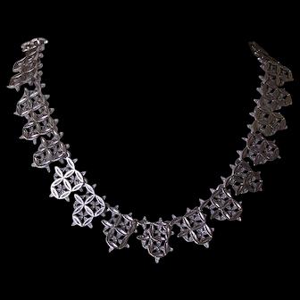 Vintage 1960's Modernist Brutalist Collar Necklace