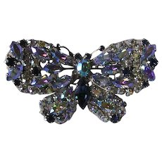 Stunning Vintage Signed Vendome Butterfly Brooch