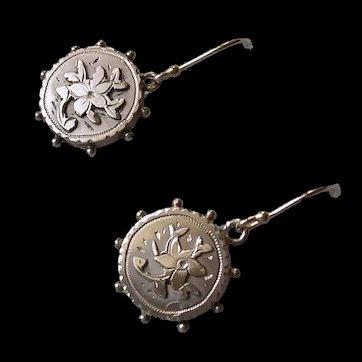Victorian Sterling Silver Pendant Earrings