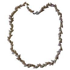 Antique Tasmanian Maireener Iridescent Shell Necklace