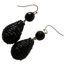 Victorian Mourning Pendant Earrings