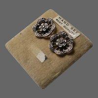 Vintage Marcasite Earrings c 1950