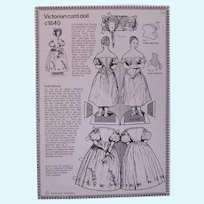 Reprint of Victorian Card Paper Doll