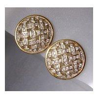 SAL Swarovski Company Crystal Clip Earrings