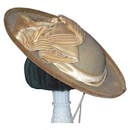 Great Antique Beige Felt Hat