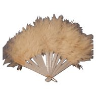 Antique Feathered Doll Fan