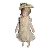"""5.5"""" Rare French All Bisque Mignonette Bride"""