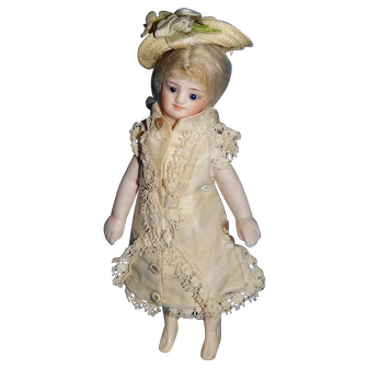 "5.5"" Rare French All Bisque Mignonette Bride"