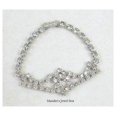 Signed Kramer Vintage Crystal Rhinestone Bracelet