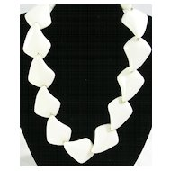 Vintage Ivory Lucite Prism Necklace Choker with Silver  Tone Beads – Gorgeous!