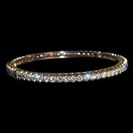 A DIAMOND BANGLE from a Royal European Collection