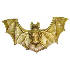 FAB Victorian  Enamel Cast Metal Figural Bat Belt Buckle