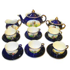 Victorian Courting Couples German Children or Doll Toy Tea Set