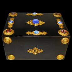 Victorian Aesthetic Jeweled Gothic Jewelry Box French