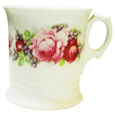 Victorian Roses Shaving Mug and Brush Germany