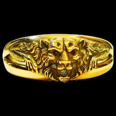 Old Beauty FMCO Victorian Lion Clamper Bracelet