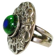 Peacock Eye Arts & Crafts Sterling Silver Ring