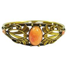 Beaux Arts Gothic Sea Serpent Jeweled Bracelet