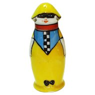 Rare Art Deco Noritake Masked Lady Clown Shaker
