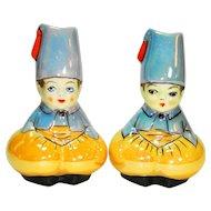Noritake Art Deco Lustreware Fez Boy Salt & Pepper Shakers