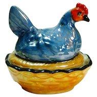 Noritake Art Deco Noritake Chicken on Nest Open Salt w Pepper 2