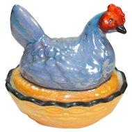 Art Deco Noritake Chicken on Nest Open Salt w Pepper 1