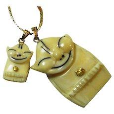 Good Luck Billikin Gold Nugget Alaskan Souvenir Necklace