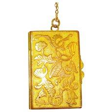Victorian Pinchbeck Vinaigrette Locket Necklace