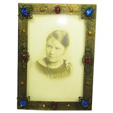 Czech Jeweled Picture / Photo Frame 2 of 2