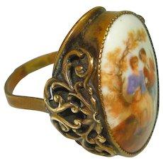 LG Czech Porcelain Lovers Filigree Ring