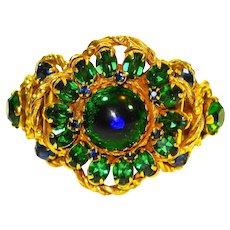 Huge Peacock Eye Bracelet and ERs Demi Parure